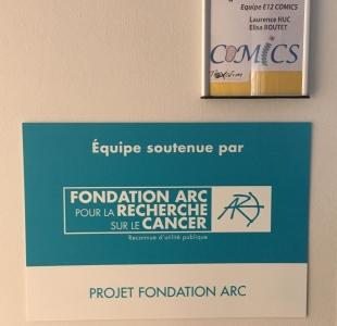 Soutien de la Fondation ARC, Recherche Contre Le Cancer (Toxalim, Janvier 2019)