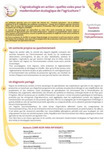 Couverture Focus Agroécologie