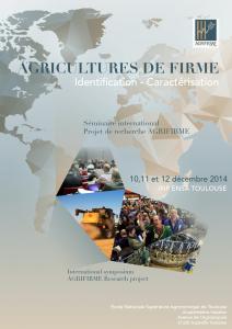 Flyer colloque Agrifirme