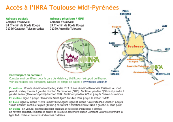 Acces INRA Auzeville
