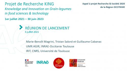 Réunion lancement projet King